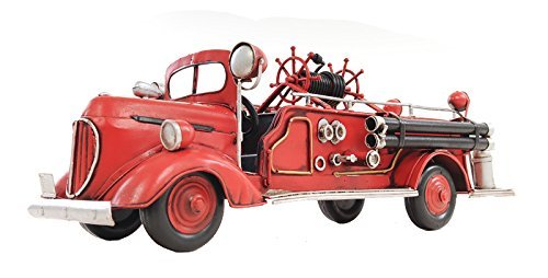 Antique Fire Engine - Old Modern Handicrafts 1938 Fire Engine Ford Collectible, 1:40-Scale, Red