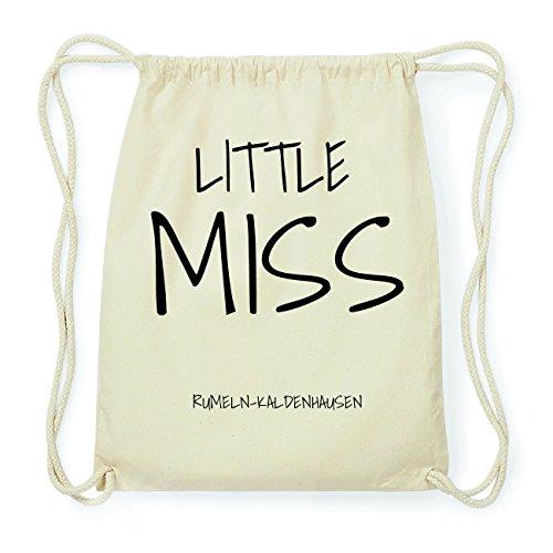 JOllify RUMELN-KALDENHAUSEN Hipster Turnbeutel Tasche Rucksack aus Baumwolle - Farbe: natur Design: Little Miss 51BHv3m6