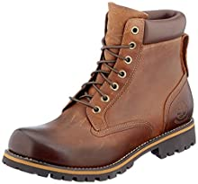 Timberland Men's Earthkeepers Rugged Boot, Medium brown full grain, 10 M US