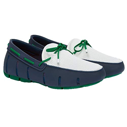 SWIMS Men's Braided Lace Loafer Navy/Jolly Green 12 M US from SWIMS