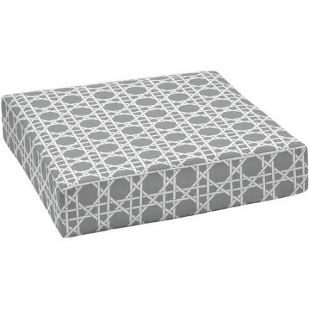 (Outdoor Patio Deep Seat Bottom Cushion, Durable, 100 Percent Outdoor Polyester Fabric. (Grey Basketweave))