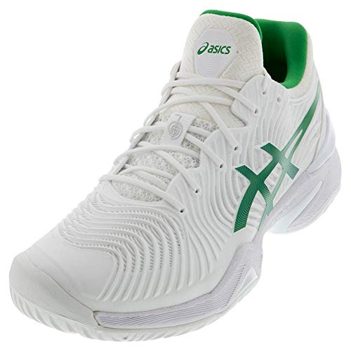 ASICS Court FF Novak Men's Running Shoe, White/Green, 11.5 M US