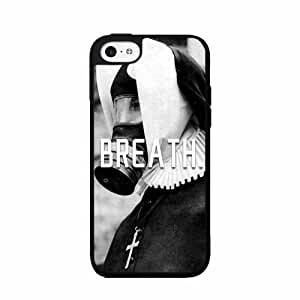 Breath Nun with Gask Mask- Plastic Phone Case Back Cover iPhone 5 5s comes with Security Tag and MyPhone Designs(TM) Cleaning Cloth