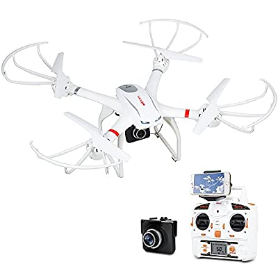 MJX X101 FPV RC Drone with HD 720P Wifi Camera Quadcopter Headless Mode for IOS & Android, Compatible with 3D VR Headset