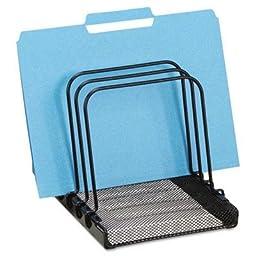 Brand New Rolodex Mesh Flip File Folder Sorter Five Sections Black 7 4/5 X 1 7/8 X 10 2/5