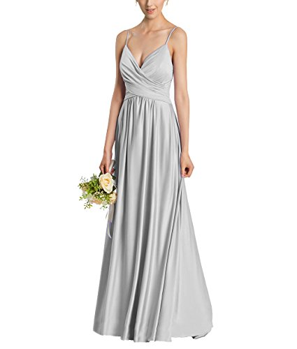 Nicefashion Women's Elegant Ruffles Floor Length Evening Dresses for Bridesmaids 2017 Gray US4 (Festa E Halloween 2017)