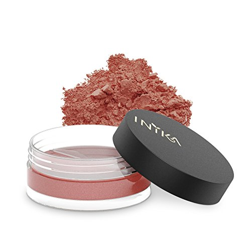 Inika Loose Mineral Blush, All Natural Make-Up Powder, Flawless Coverage, Brightening, Long Lasting, Water Resistant, Oil Free, Vegan 3g (0.10 oz) (Peachy ()