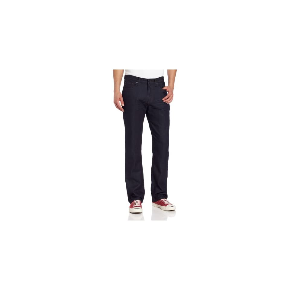 Kenneth Cole New York Mens Straight Leg Jean, Dark Indigo, 30/30