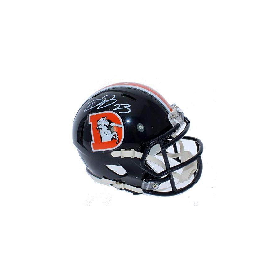 Devontae Booker Autographed Signed Denver Broncos 2016 Color Rush Speed Mini Helmet Certified Authentic
