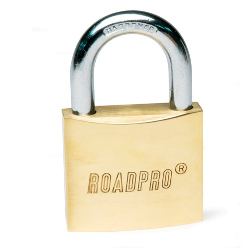 RoadPro RPLB-60 60mm Solid Brass Padlock with 1.5'' Shackle