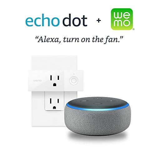 Echo Dot (3rd Gen) - Heather Gray + Wemo Mini Smart Plug