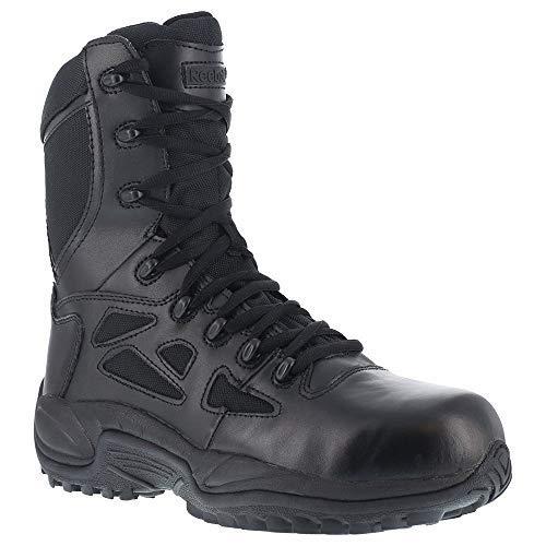 Reebok Women's 8'' Side-Zip Rapid Response Tactical Boot Round Toe Black 7.5 EE US by Reebok