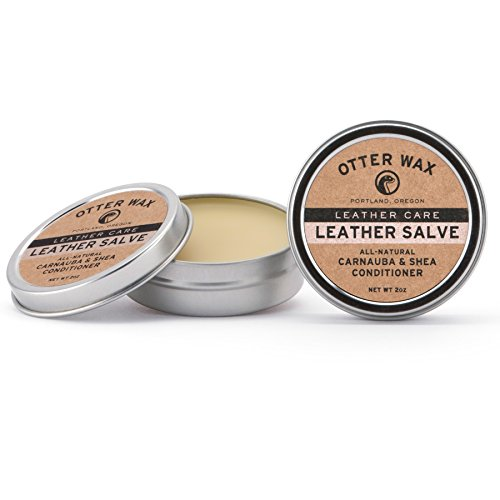 Otter Wax Leather Salve | 2oz | All-Natural Universal Conditioner | Made in USA from Otter Wax