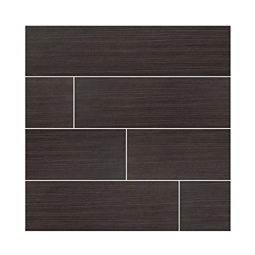 Home Depot Slate Tile (SYGMA EBONY 6 in. X 24 in. 16 Pieces Per Box)