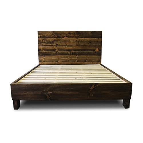 Farmhouse bed frame and headboard set for Old world style beds