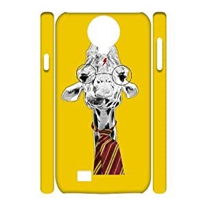 T-TGL(RQ) Samsung Galaxy S4 I9500 3D Personalized Phone Case Back Skin Giraffe with Hard Shell Protection