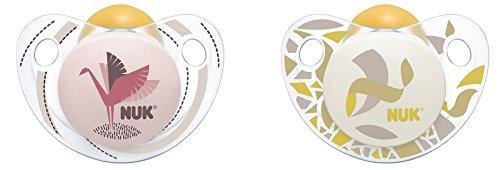 Chupete de látex NUK Trendline, forma ortodóntica, sin BPA ...