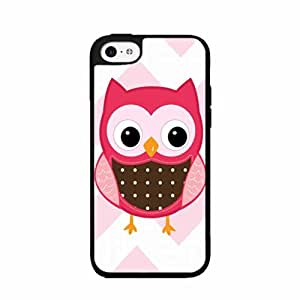 Pink Owl TPU RUBBER SILICONE Phone Case Back Cover iPhone 5c