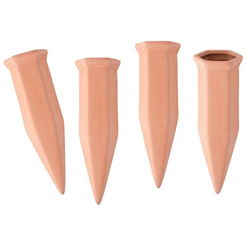 Plant Pals by Wyndham House 4pc Terracotta Watering Spikes ()