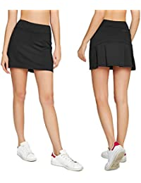 870889d9e9 Women's Casual Pleated Tennis Golf Skirt with Underneath Shorts Running  Skorts