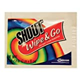 Shout Wipe & Go Instant Stain Remover, 4.7 x 5.9 (80 Pack)