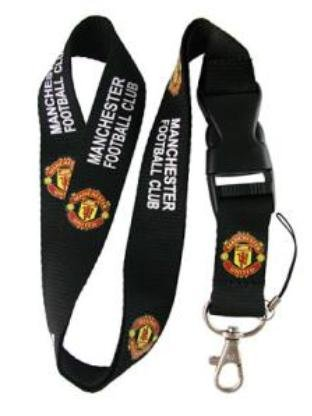 (Manchester United FC Lanyard Keychain Holder with Snap)