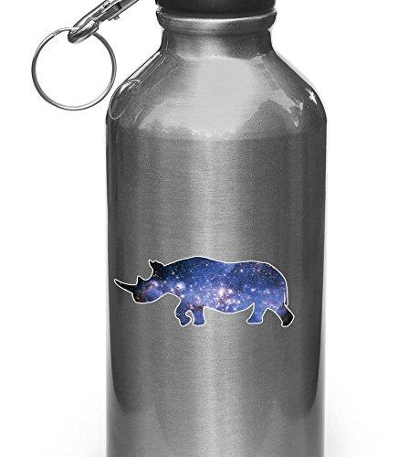 Cosmic Rhino - Rhinoceros - Star Galaxy Guide - Vinyl Decal Sticker for Reusable...