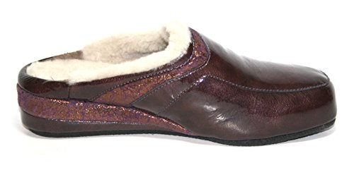 Fortuna - Zapatillas de Estar Por Casa de cuero Mujer Morado - Violet - Violett (bordo/vino 617)