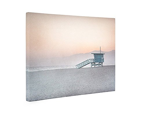 (Large Format Prints, Canvas or Unframed, Pink Venice Beach Wall Art, California Coastal Decor Picture, 'Lifeguard)