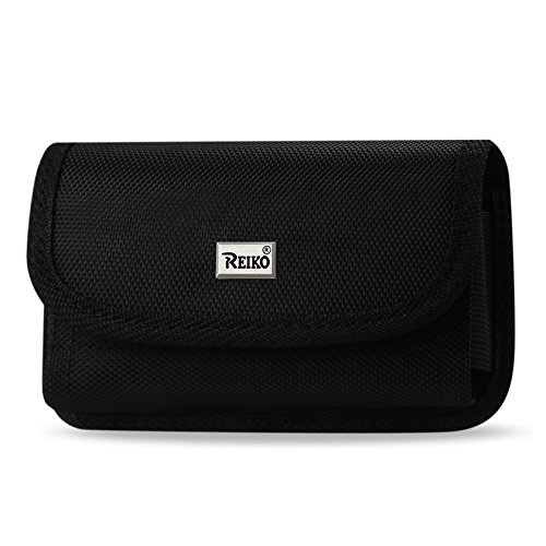 Reiko Horizontal Rugged Pouch with Card Holder for Treo 650 - Retail Packaging - Black