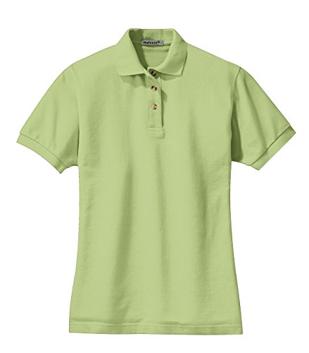 Mafoose Women's Heavyweight Cotton Pique Polo Shirt Pistachio L