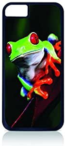 Tree Frog- Case for the Apple Iphone 5C-Hard Black Plastic Outer Shell with Inner Soft Black Rubber Lining