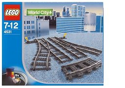 Lego World City Switching Tracks for 9V Trains #4531 ()