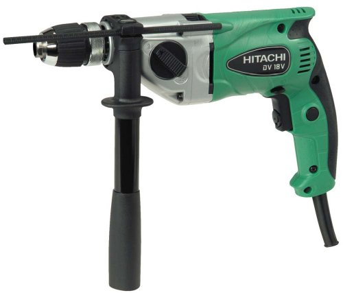 Hitachi DV18V 11/16 inch Variable Speed Reversible Corded Impact Drill with Case