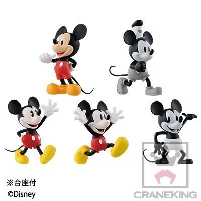 Disney Characters World Collectible figures -HISTORY OF MICKEY MOUSE- whole set of 5
