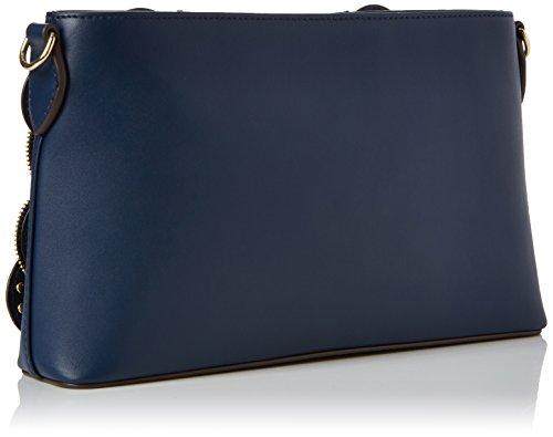 Love Moschino Damen Borsa Vitello Smooth Blu Schultertasche, blau (Blue), 6 x 16 x 28 cm