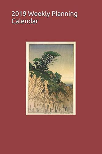 2019 Weekly Planning Calendar: California Point Lobos Lone Cypress Woodcut by Bertha Boynton Lum 6 x 9 in.