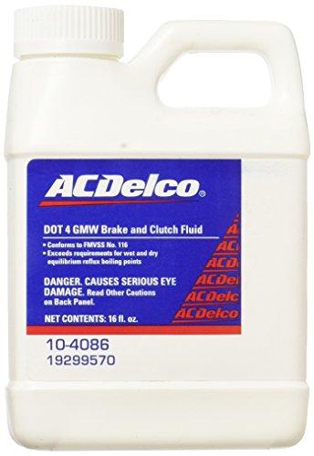 ACDelco 10-4086 DOT 4 Hydraulic Brake and Clutch Fluid - 16 oz