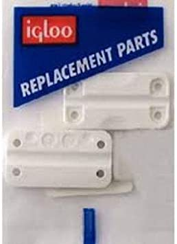 5 1-Pair w// 8 screws * Genuine Igloo 24012 White Hinges for Ice Chest Cooler
