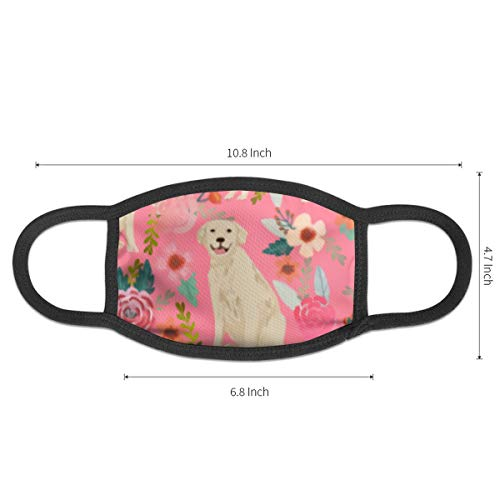 Mouth Mask Cute Golden Retriever Dog Earloop Face Mask - Adjustable Elastic Band for Running Outdoor, Anti Pollen Dustproof Face and Nose Cover, Half Face Mouth Mask/Cover