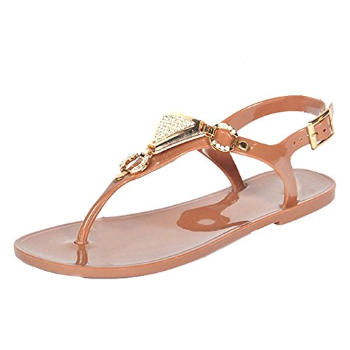 French Kiss Womens Fashion Sandals Brown Js3mLur
