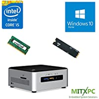 Intel BOXNUC6i5SYH Core i5-6260U NUC Mini PC w/ 4GB, 128GB M.2 SSD, Windows 10 Home - Configured and Assembled by MITXPC