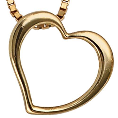 JOBO pendentif en forme de cœur en or jaune 585