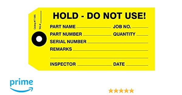 """2 x 4/"""" Hold For Inspection Warehouse Labels"""