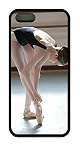 Beautiful Ballet Dancer Theme Case for IPhone 5 5S Rubber Material Black by icecream design