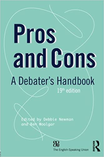 Book Pros and Cons: A Debaters Handbook