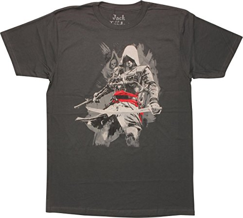 Assassins Creed Edward Kenway T-Shirt Slim Fit, Medium -