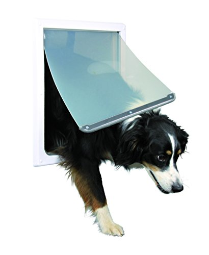 TRIXIE Pet Products 2-Way Locking Dog Door, Medium to X-Large Dogs, White