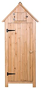 Amazon Com Merax Wooden Garden Shed Wooden Lockers With