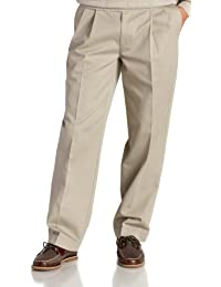 Men's Big and Tall Pleated Extended Twill Pant
